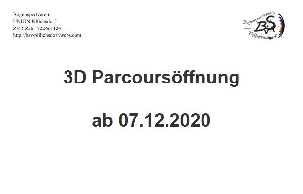 3D Parcours wieder geöffnet